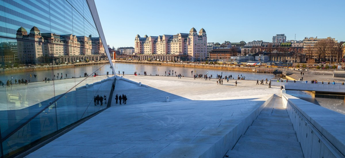 Oslo view from opera house